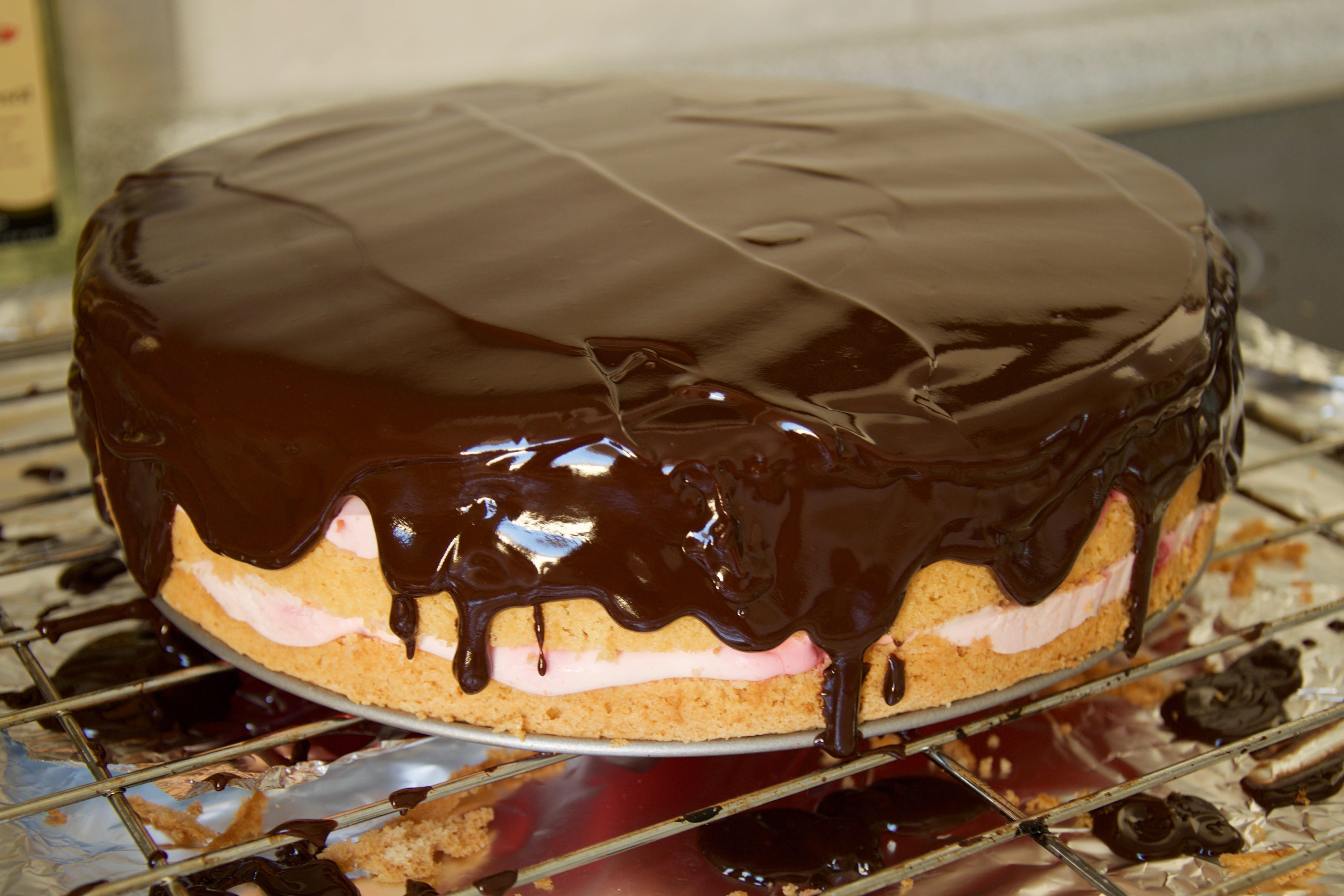 Meine Himbeer Sahne Torte Evimauz
