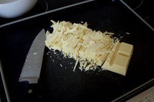 Weiße Schokolade gehackt