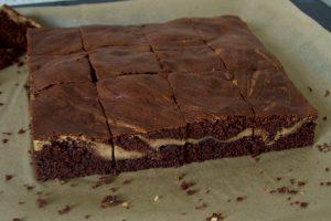 Schoko-Erdnussbutter-Brownies