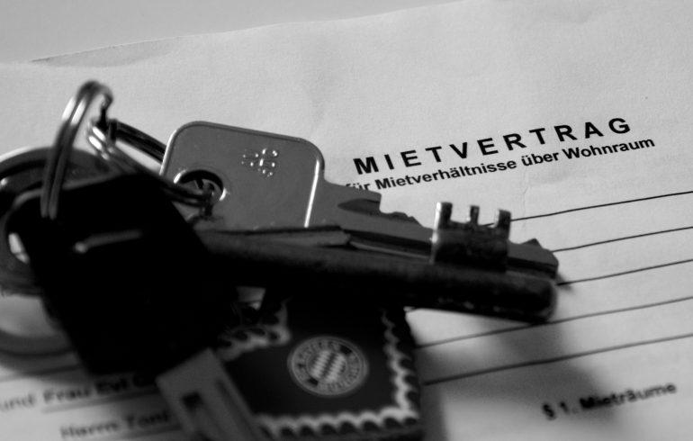 Mietvertrag mit Schlüssel