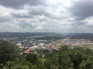 Blick auf den Panama Kanal vom Ancon Hill