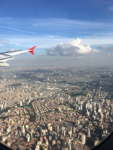 Landeanflug Sao Paulo, Brasilien