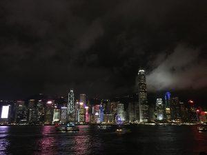 Hongkong in der Nacht, Hong Kong, Victoria Harbour