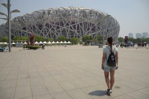 Olympiagelände Peking, Vogelnest, Nationalstadion, Beijing, China