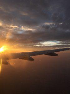 Sonnenaufgang, Sunrise, Fliegen, Flugzeug, Malaysia