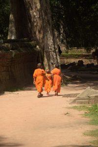Ta Phrom, Mönche, Tempel, Angkor, Siem Reap, Kambodscha
