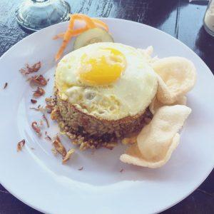 Nasi goreng Seafood, Gili Meno, Lombok, Bali, Indonesien, Indonesia