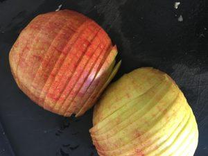 Zubereitung von köstlichen Apfelrosen