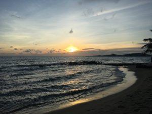 Sonnenuntergang, Strand, Meer, Phu Quoc, Vietnam